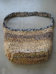 Plastic Bac Crochet Beach Bag (3)