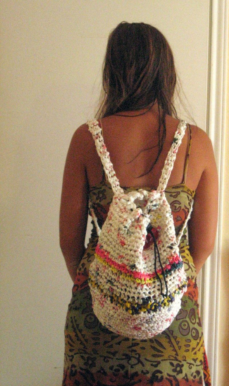 Plastic Bag Crochet Backpack 2 Bagsbegone Com