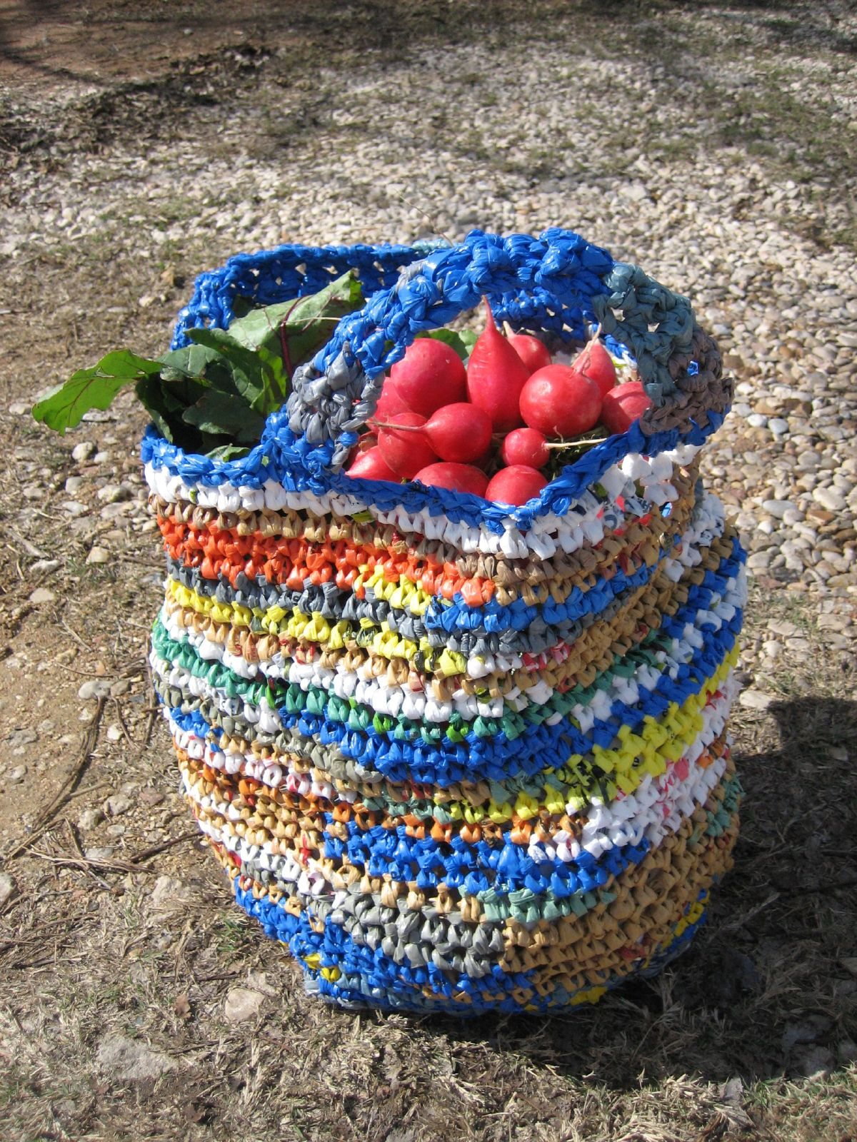 Crochet Pattern For Bags Plastic : Plastic Bag Crochet Grocery Bag (2) BagsBeGone.com