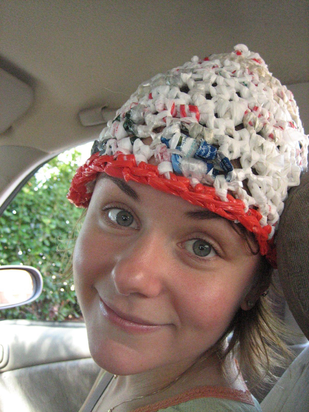 Plastic Bag Crochet : Plastic Bag Crochet Hat (2) BagsBeGone.com