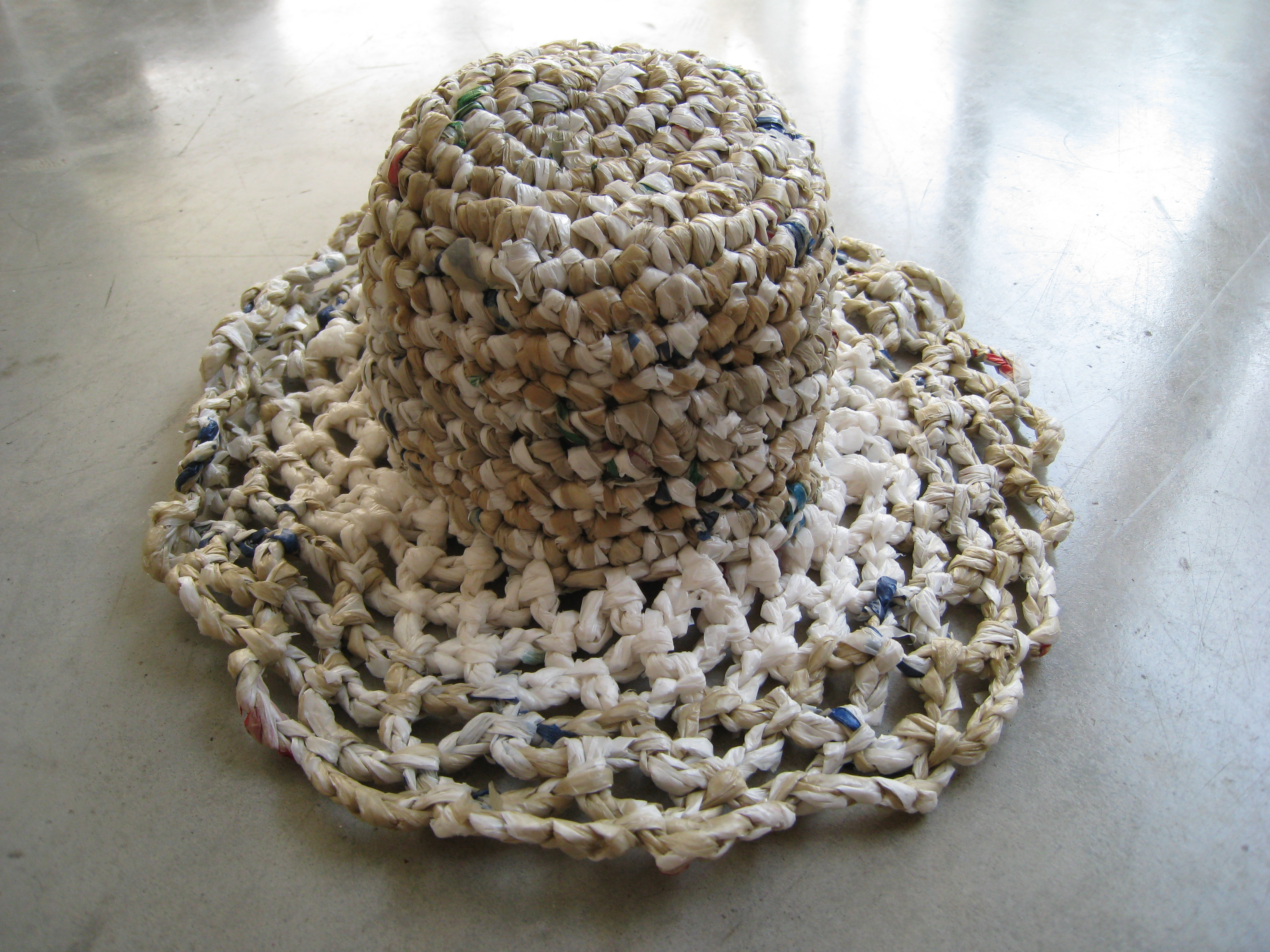 Crochet Plastic Bag Hat