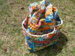 Plastic Bag Crochet Tote Bag With Pockets (1)