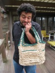 Plastic Bag Crochet Tote Bag With Pockets (5)